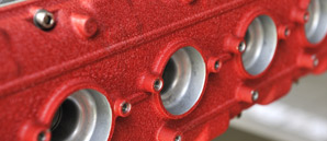 Powder Coating engine blocks